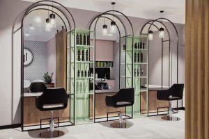 Wnętrze salonu fryzjerskiego Doroty Pietruczuk w Białymstoku.