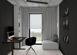 Monochromatyczny apartament na Woli w Warszawie